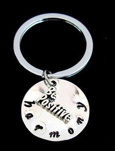 Be Positive Key Chain, Postitive Jewelry Be Positive Key Ring, Persona
