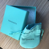Authentic Tiffany Blue Box With Pouch And Cotton Insert