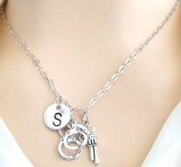 Gun Handcuff Necklace, Gun Jewellery, Crime Police Officer Wife Sister