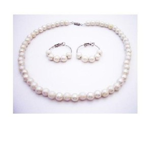 Flower Girl Ivory Beads Necklace Set Jewelry
