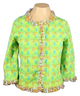 Michael Simon York Shirt Green Netting Cardigan