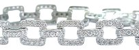 Other Fine Round Cut Diamond Square Link White Gold Bracelet 3.00ct 8