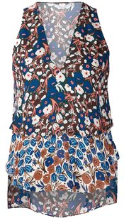 10 Crosby Derek Lam Silk Floral Printed Top Multi