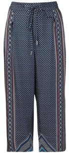 10 Crosby Derek Lam Silk Trouser Pants Navy