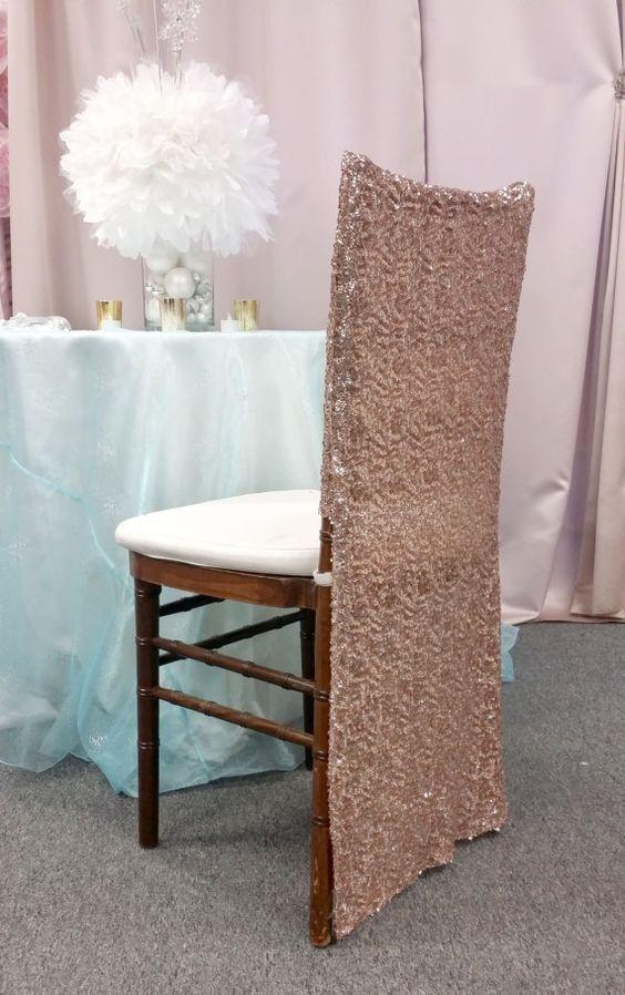 100 Sequin Chiavari Full Chair Back Covers You Choose Your Color