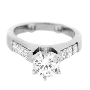 18k White Gold 1.00ct Diamond Six Prong Engagement Ring