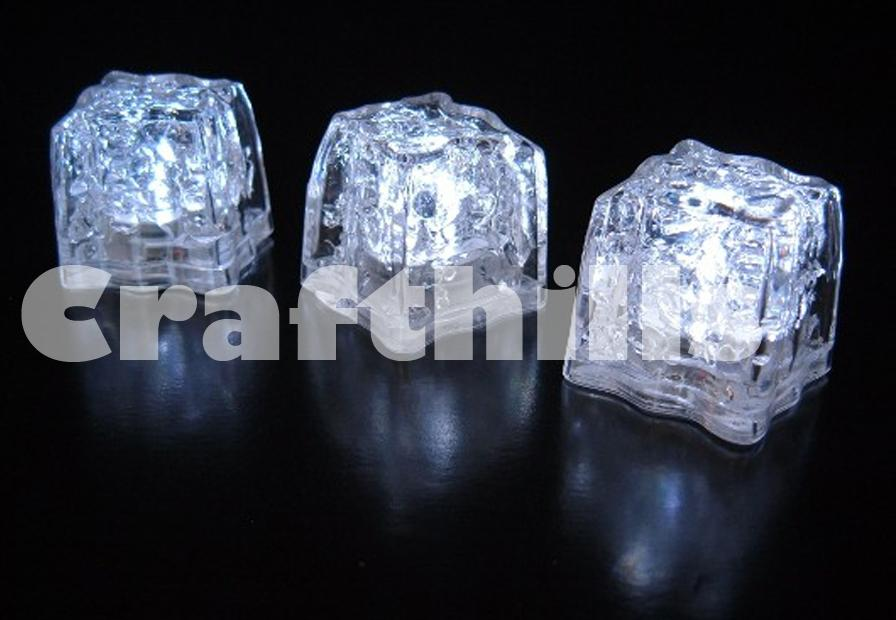 12 pcs white led ice floating waterproof floral tea vase centerpiece light up for wedding party
