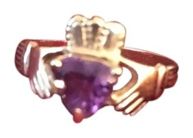 14k amethyst claddagh ring
