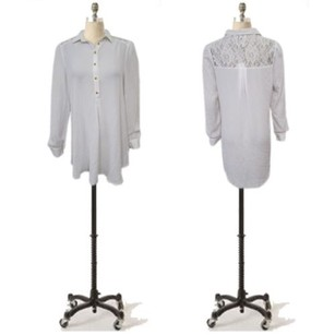 213 Industry Hi Low Length Blouse Lace Back Tunic