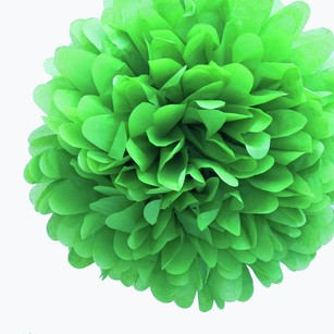 24 Kelly Green Tissue Pom Poms Flower Kissing Balls Pomanders 14