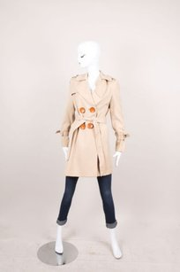 3.1 Phillip Lim Beige Belted Wool Trench Coat