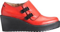 3.1 Phillip Lim Wallace Platform Wedge Monk Strap Eu Red Flats
