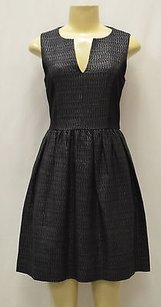 4.collective short dress Black Collective Tweed Split on Tradesy