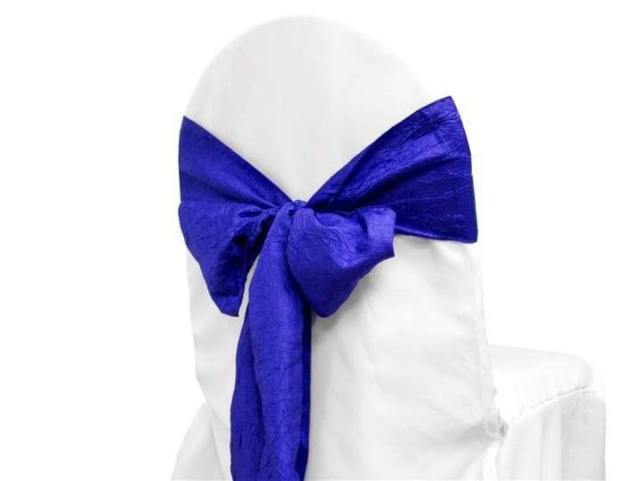 Chair Sash (Taffeta Crinkle) - Royal Blue