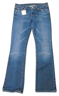 7 For All Mankind Wash Low Rise Boot Cut Jeans