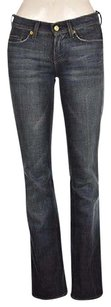 7 For All Mankind Mia Womens Blue Wash Cotton Boot Cut Jeans