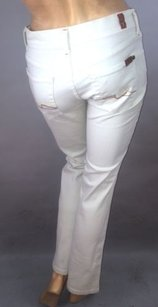 7 For All Mankind Ivory Boot Cut Jeans