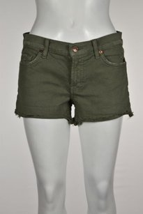 7 For All Mankind Womens Shorts Olive Green