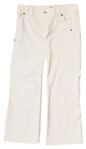 7 For All Mankind Corduroy Low-rise Capris Ivory