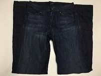 7 For All Mankind Dark Wash Two Pocket Back Detail Sma10058 Flare Leg Jeans