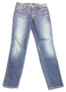7 For All Mankind Seven The Ankle Skinny Blue Cotton Pocket 2952 A Skinny Jeans