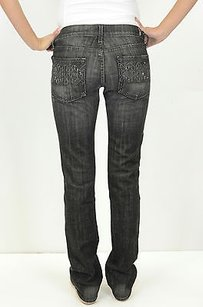 7 For All Mankind X Black Straight Leg Jeans