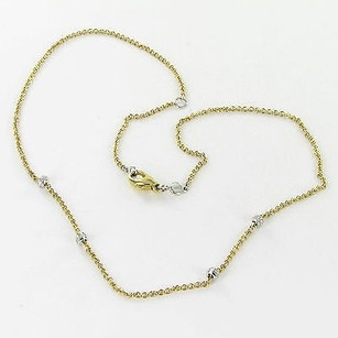 Aaron Basha Aaron Basha 16 Barrel Necklace Stations 0.16cts Diamonds 18k Y Gold