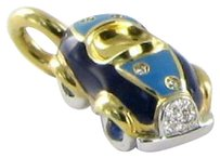 Aaron Basha Aaron Basha P720 Charm Baby Car Blue Scattered 0.05cts Diamond 18k Yg