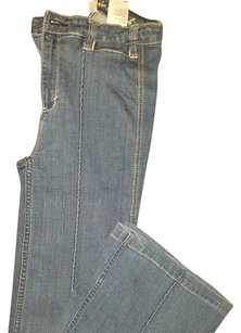 Abercrombie & Fitch & Denim Womens Flare Leg Jeans-Medium Wash
