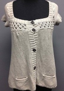 Abercrombie & Fitch And Knit Lightweight Short Sleeve Sm5812 Sweater