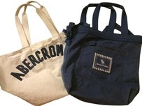 Abercrombie & Fitch Tote in White & Blue