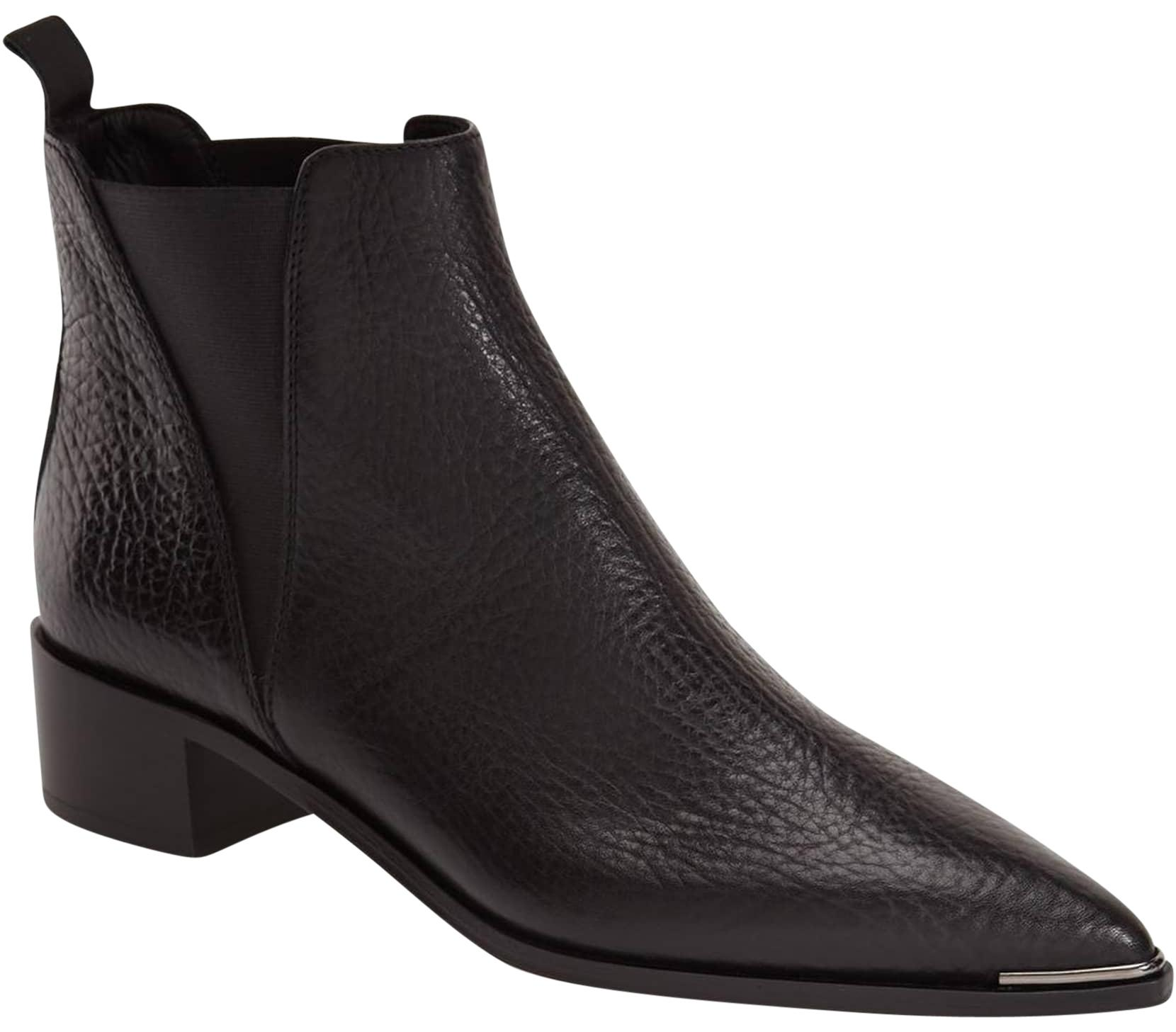 Acne Studios Black Jensen Leather Ankle Pointy 35 Boots/Booties Size US 5 Regular (M, B)