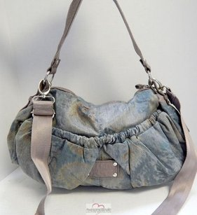 Adolfo Dominguez Cotton Faux Hobo Bag