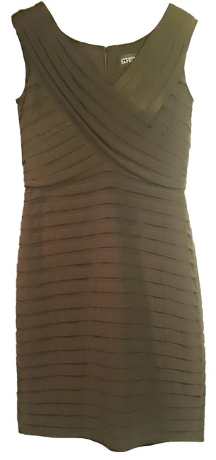 Preload https://item2.tradesy.com/images/adrianna-papell-pleated-dress-brown-5107816-0-0.jpg?width=400&height=650