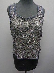 Adrianna Papell Occasions Top Gray Blue Purple