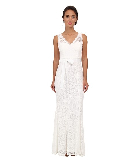 adrianna papell wedding dress papell v neck lace gown wedding dress on tradesy 1210