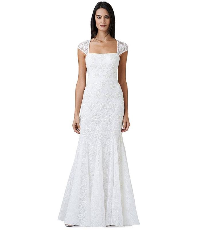 wedding dresses on sale papell beaded lace cap sleeve trumpet wedding 9386