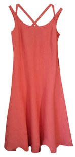 Adrienne Vittadini (4) short dress Coral Vitadini Linen on Tradesy