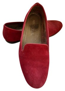 Aerosoles Suede Leather Slip-on Casual Red Flats