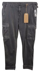AG Adriano Goldschmied Slate Luscious Stretch Sateen Cargo Pants Gray
