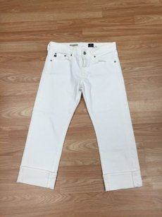 AG Adriano Goldschmied White Relaxed Fit Jeans