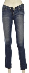 AG Adriano Goldschmied Stilt Womens Blue Cotton Denim Pants Straight Leg Jeans