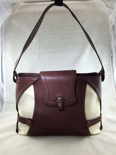 Agnona Brown Leather Shoulder Bag