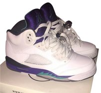 Air Jordan White/Grape/Turquoise Athletic