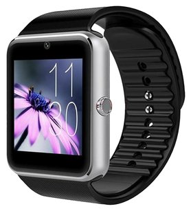 AirsspuTM AirsspuTM Bluetooth Smart Watch with Camera Cell Phone Touch Screen Wristwatch Phone Mate for Android Samsung HTC Sony Lg and Iphone 6plus Smartphone (Silver)