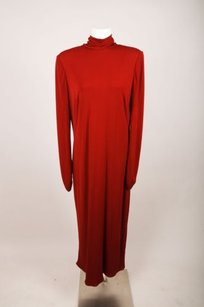 Maxi Dress by Akris Red High Neck Open Back