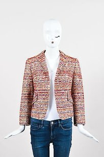 Akris Punto Beige Red Purple Multi-Color Jacket