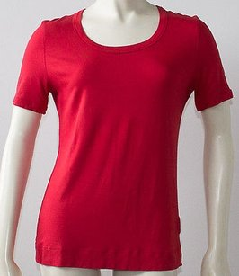 Akris Punto Knit Round T Shirt Red