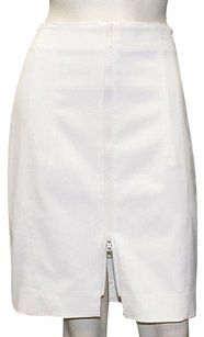 Akris Punto Blend Zip Front Straight Pencil Wtw Hs1451 Skirt White