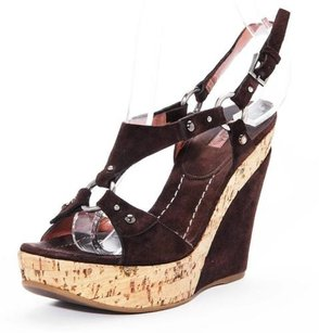 ALAÏA Alaia Womens Dark Brown Platforms